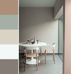Naturel tinten /delicate mix; bakery Brown,  early Dew,  sandy beach, fresh linen, spacious Grey.