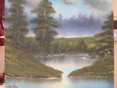 full length oil painting lesson-quiet pond-wet on wet