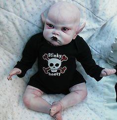 OOAK Horror Goth Art Doll Evil Baby Vampire | eBay