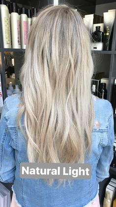 Ashy rooted blonde hair