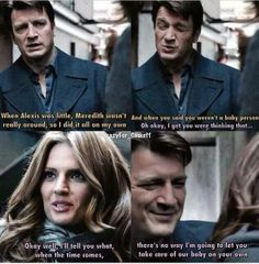Baby <3<3<3 I cannot wait until they have kids they are gonna be so cute Castle Tv Series, Castle Tv Shows, Nathan Fillon, Richard Castle, Castle Beckett, Marriage Anniversary, The Mentalist, Me Tv, Stana Katic