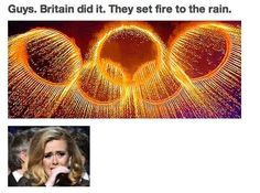 I hope Adele was there to watch it pour as she touched your face.