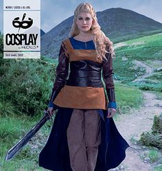 This sewing pattern from Cosplay by McCall's is pretty much a Lagertha knockoff. (From History channel's Vikings.)
