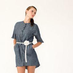 Haley organic cotton & hemp denim dress  by SimonesRoseBoutique on #etsy