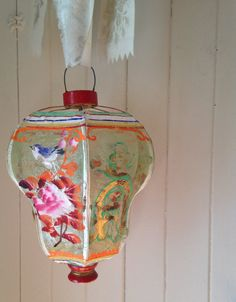 RESERVED // antique Chinese lantern rare circa by histoireancienne Vintage Chinese Lanterns, Vintage Lanterns, Garden Lanterns, Paper Lanterns, Hans Wegner, Scenic Wallpaper, Deco Luminaire, How To Make Lanterns, Chinese Furniture