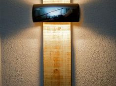 A piece of #roof #board and a simple #wall #lamp make a handsome couple: http://www.1-2-do.com