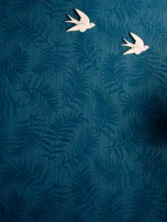 simple focus , but maybe different design. Graham & Brown Premier Fern Wallpaper - Teal