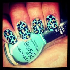 Leopard and teal think it would be cuter on toes