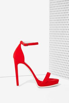 Jeffrey Campbell Finola Heel - Red Neoprene | Shop Valentine's Day Shop at Nasty Gal