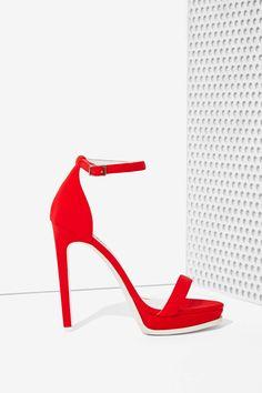 Jeffrey Campbell Finola Heel - Red Neoprene | Shop What's New at Nasty Gal