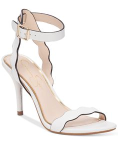 Jessica Simpson Morena Two-Piece Scallop Detail Sandals - Sandals - Shoes - Macy's