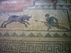Mosaic from the House of Dionysos, Hunting Scene, Paphos, Cyprus