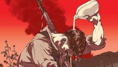 Os pôsteres de filmes ilustrados de Tomer Hanuka - Os trabalhos de Tomer Hanuka se destacam com um estilo de ilustração bem marcante, tanto na qualidade de sua composição como também nas cenas fortes que costuma retratar.