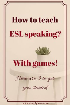 Three fun speaking games that will get your ESL students to talk. Three fun speaking games that will get your ESL students to talk. English Language Learners, Education English, Teaching English, German Language, Japanese Language, Teaching Spanish, Spanish Language, French Language, Chinese Language