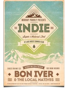 Indie Nature Fest Poster by moodboy , via Behance