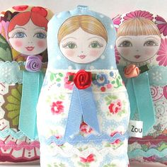Babushka Doll Anastacia  Petite size by zouzoudesign on Etsy, $18.00