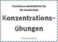 Konzentrationsübungen: Diese Übungen helfen Kindern eine bessere Aufmerksamkeit zu entwickeln und sich besser zu konzentrieren - zum kostenlosen Download als PDF