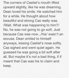 "Destiel: Closets and Cuddles"" 23/23 // Written by The Tardis-Impala"