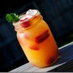 Shaken Nectarine Vodka Chillers....there is just something about a drink in a mason jar almost makes it taste better