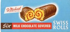 Chocolate covered Swiss Roll.