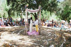 Circular wedding ceremony set up Wedding Chuppah, Wedding Canopy, Wedding Ceremony, Our Wedding, Wedding Ideas, Circle Wedding Ceremonies, Woodland Wedding, Boho Bride, Green Wedding