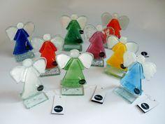 Fused glass angels