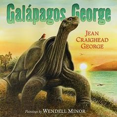 """GALAPAGOS GEORGE by Jean Craighead George (HarperCollins Publishers, 2014). """" There is a lot to explore in Galapagos George: evolution, extinction of dinosaurs and other species, as well as global warming, ecology, and rising oceans. There is plenty to interest children."""" This fiction book has lots of #Nonfiction content. Read about ways to use this book at the #ReadingTub."""
