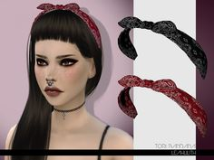The Sims Resource: Tori Bandana by Leah Lillith • Sims 4 Downloads