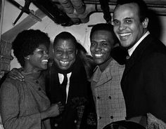 Cicely Tyson, James Baldwin, Arthur Mitchell, Harry Belafonte attend a 1969 production of Lorraine Hansberry's playTo Be Young, Gifted and Black