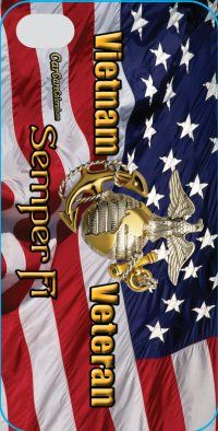 Vietnam Veteran Semper Fi Truck Window Mural. Get the custom iphone case to match your rear window mural.