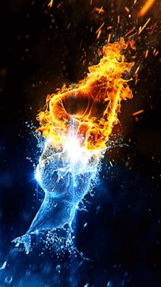 Fire and ice  Fire and ice  artisgifisart #gifart #gif                                                                                                                                                                                 Mehr