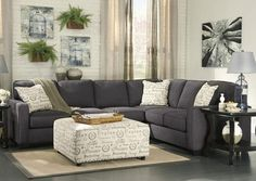 """3 Piece Sectional   Includes:Left Arm Facing Loveseat, Right Arm Facing Sofa and Armless Chair  Frame constructions have been rigorously tested to simulate the home and transportation environments for improved durability. Corners are glued, blocked and stapled. Seats and back spring rails are cut from 7/8"""" hardwood. Stripes and patterns are match cut. All fabrics are pre-approved for wearability and durability against AHFA standards. Cushion cores are constructed of low melt..."""