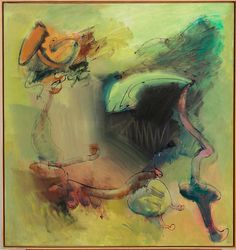 John Altoon / Untitled, 1962 / oil on canvas /56 x 59 inches