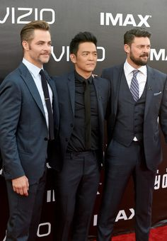 """Karl Urban Photos - (L-R) Actors Chris Pine, John Cho and Karl Urban attend the premiere of Paramount Pictures' """"Star Trek Beyond"""" at Embarcadero Marina Park South on July 20, 2016 in San Diego, California. - Premiere of Paramount Pictures' 'Star Trek Beyond' - Arrivals"""