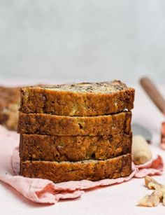 Grandma's Banana Nut Bread - A classic banana bread recipe packed full of mashed bananas and chopped walnuts; it can be prepped in 10 minutes and bakes up super moist and dense. Swap in different nuts or use chocolate chips, as well. A family favorite! Nut Bread Recipe, Banana Nut Bread, Super Moist Banana Bread, Dessert Recipes, Cake Recipes, Fruit Recipes, Banana Bread Recipes, Grandma's Banana Bread Recipe, Sweet Bread