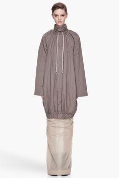 RICK OWENS Dark oyster grey Bubble coat / #MIZUstyle