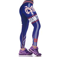 New York Giants NFL Football Sports Leggings Womens Sports Leggings, Printed Leggings, Workout Leggings, Women's Leggings, Tights, San Francisco Giants Baseball, Odell Beckham Jr, Baseball Pants, New York Giants