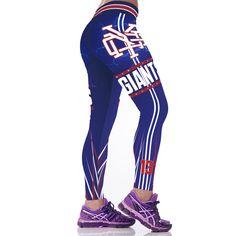 New York Giants NFL Football Sports Leggings Womens Sports Leggings, Printed Leggings, Workout Leggings, Women's Leggings, Tights, San Francisco Giants Baseball, Odell Beckham Jr, Baseball Pants, New York Giants