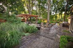 Patio, pergola, ornamental walls Pergola, Walls, Patio, Outdoor Decor, Projects, Home Decor, Log Projects, Terrace, Wands