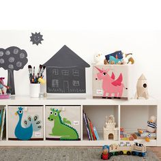 The 3 Sprouts storage box is the perfect organizational tool for any room. With sides reinforced with cardboard our storage box stands at attention at all times. Made to fit almost all cubby hole shelving units it adds a pop of fun to every room. Whether standing alone or placed in a cubby hole the 3 Sprouts storage box makes organizing easy. Enter code DECOR15 for 15% OFF. Offer ends 9/11/14 at 11:59pm PT.