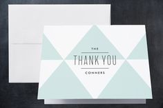 Geometric Baby Birth Announcements Thank You Cards by Lauren Chism at minted.com