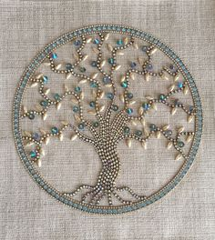 Unique Home Decor – Thinking Outside the Box Vintage Jewelry Crafts, Recycled Jewelry, Antique Jewelry, Jewelry Frames, Jewelry Tree, Button Art, Button Crafts, Cristal Art, Jewelry Christmas Tree