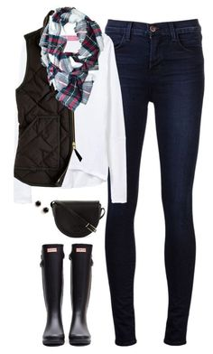 78367afc26be #fall #outfits / quilted vest + long sleeve tee Black Garden, White Plaid