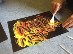 Flame: Creative Children's Ministry: Pentecost Flames: Painting with Forks!