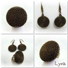 Las cositas de Lyra: Anillos y Pendientes Botón