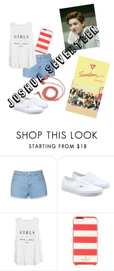 """""""Joshua SEVENTEEN Polyvore"""" by nialuisa ❤ liked on Polyvore featuring Ally Fashion, Vans, MANGO, Kate Spade and FOSSIL"""