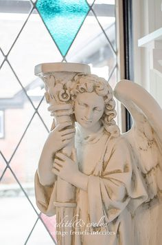 Beautiful Guardian Angel Statue Large Size by edithandevelyn