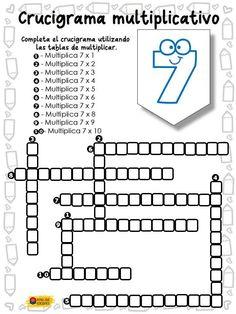 Crucigramas matemáticos para rellenar (dependiendo del nivel del ... 8acdd3d5b8e