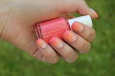 DIY nail art: 14 Summer-perfect manis to make a splash with - We're almost well into the season of picnics, beach bonfires and combi van road-trips, and you know what that means, beauties — time to make a splash! Sky Nails, Gradient Nails, Sunset Gradient, Ombre Nail Designs, Nail Art Designs, Cute Nails, Pretty Nails, Girls Nails, Nail Art Diy