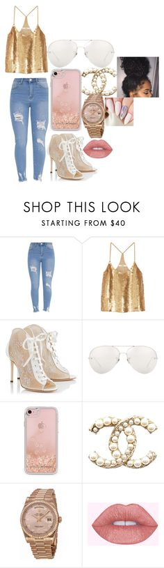 """""""Teen love it good(Chris Brown and August Alsina story)"""" by niav4026 on Polyvore featuring TIBI, Jimmy Choo, Linda Farrow, Rebecca Minkoff and Rolex"""